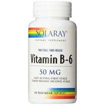 VITAMINA B6 50MGR 60CAP SOLARAY