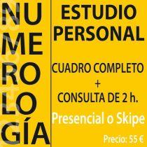 NUMEROLOGIA ESTUDIO NUMEROLÓGICO PERSONAL + CONSULTA DE 2 HORAS. PRESENCIAL O POR SKIPE