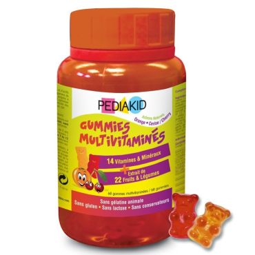 PEDIAKID GOMINOLAS 60 OSITOS MULTIVITAMINAS