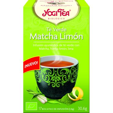 TE VERDE MATCHA LIMON 17 FILTROS YOGI TEA