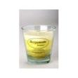 Vela perfumada bergamota con vaso