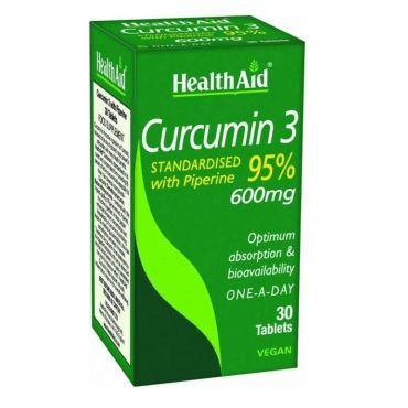 CURCUMIN 3 95X100 DE CURCUMICINAS 30 TABLETAS HEALTH AID