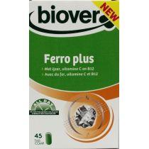 FERRO PLUS HIERRO VIT C Y B12 45CAPS DE LIBERACION CONTROLADA 1 AL DIA BIOVER