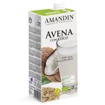 BEBIDA DE AVENA CON COCO 1L., AMANDIN