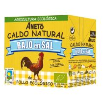 CALDO POLLO MINI BAJO EN SAL 500ML ANETO