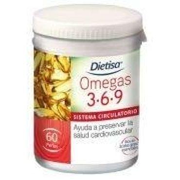 OMEGAS 3-6-9 DIETISA 60PERLAS