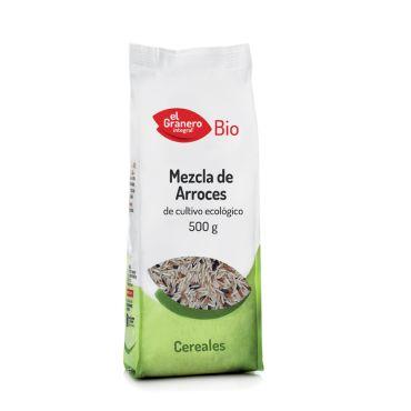 MEZCLA ARROCES BIO 500GR  EL GRANERO arroz indico, rojo y negro