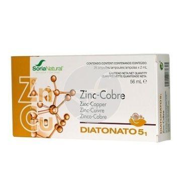 DIATONATO 5/1 ZINC-COBRE 28VIALES SORIA NATURAL
