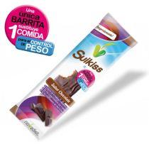SUIKISS SABOR CHOCOLATE 1 BARRITA SUSTITUYE 1 COMIDA ALTO CONTENIDO EN FIBRA Y PROTEINAS
