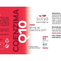COENZIMA Q10 60MG DE Q10 60PERLAS DE 612MG SOTYA