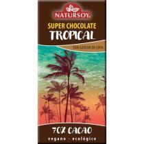 SUPER CHOCOLATE TROPICAL 70X100 CACAO NATURSOY