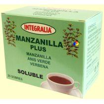 MANZANILLA PLUS SOLUBLE 20 FILTROS DE MANZANILLA ANIS Y VERBENA