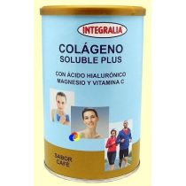 COLAGENO SOLUBLE PLUS CON ACIDO HIALURONICO Y VIT. C 360GR INTEGRALIA SABOR CAFE
